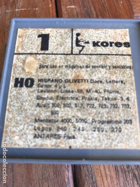 Antigüedades: Kores Silko. Antigua cinta máquina escribir Hispano Olivetti. Sin estrenar - Foto 5 - 203110120