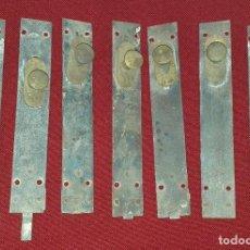Antigüedades: LOTE 7 PASADORES O CIERRES ÉPOCA MODERNISTA SIGLO XIX. Lote 203174226