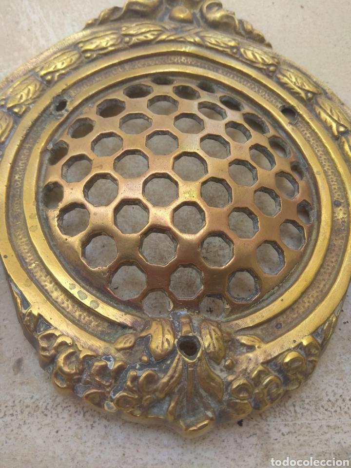Antigüedades: Gran Mirilla de Bronce para Puerta - Foto 5 - 143469888