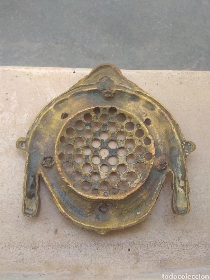 Antigüedades: Gran Mirilla de Bronce para Puerta - Foto 7 - 143469888