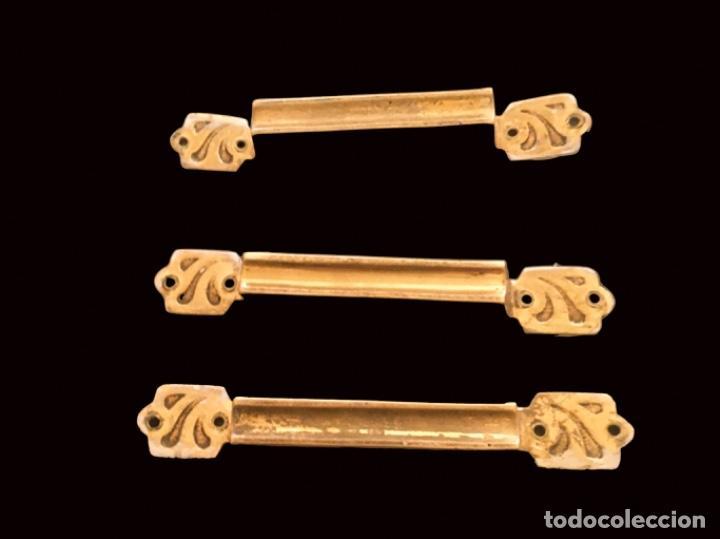 TIRADORES DE BRONCE ANTIGUOS (Antigüedades - Técnicas - Cerrajería y Forja - Tiradores Antiguos)