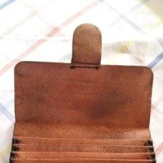 Antigüedades: ANTIGUA CARTERA DE CUERO DE CORREOS. TELECOMUNICACIÓN - GIRO TELEGRÁFICO. Lote 203424670