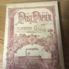 Antigüedades: PAPEL DE CARTAS POST PAPIER. Lote 203567642