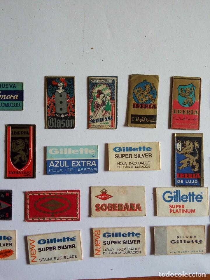 Antigüedades: LOTE DE 32 HOJAS DE AFEITAR, VARIAS MARCAS (ver fotos) - Foto 3 - 203575016