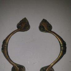 Antigüedades: 2 TIRADORES BRONCE. Lote 203594598
