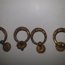 Antigüedades: 4 TIRADORES BRONCE. Lote 203594777