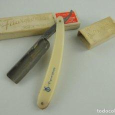 Antiquités: PRECIOSA NAVAJA DE AFEITAR FILARMONICA 14 DOBLE TEMPLE DE JOSE MONSERRAT. Lote 203796298