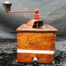 Antigüedades: ANTIGUO MOLINILLO DE CAFÉ ELMA DE MADERA. Lote 203837605