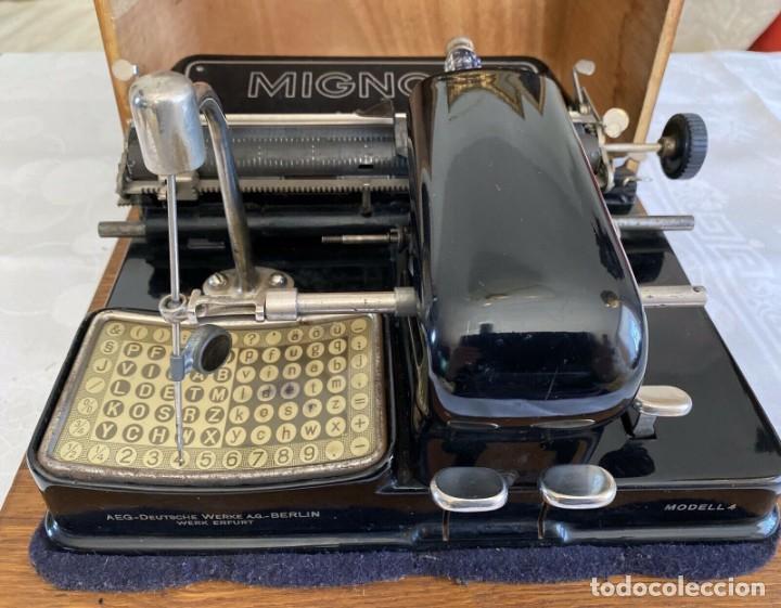 ANTIGUA MÁQUINA DE ESCRIBIR MIGNON MODELO 4 AÑOS 20 (Antigüedades - Técnicas - Máquinas de Escribir Antiguas - Mignon)