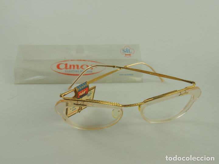 BONITAS GAFAS AMOR PLAQUE DE ORO, AÑOS 60 EXCELENTE PIEZA DE COLECCIÓN (Antigüedades - Técnicas - Instrumentos Ópticos - Gafas Antiguas)