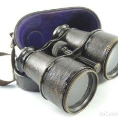 Antigüedades: ANTIGUOS BINOCULARES PRISMÁTICOS DE OPERA TEATRO AÑOS 50 CON ESTUCHE EXCELENTE DESEÑO. Lote 203876141