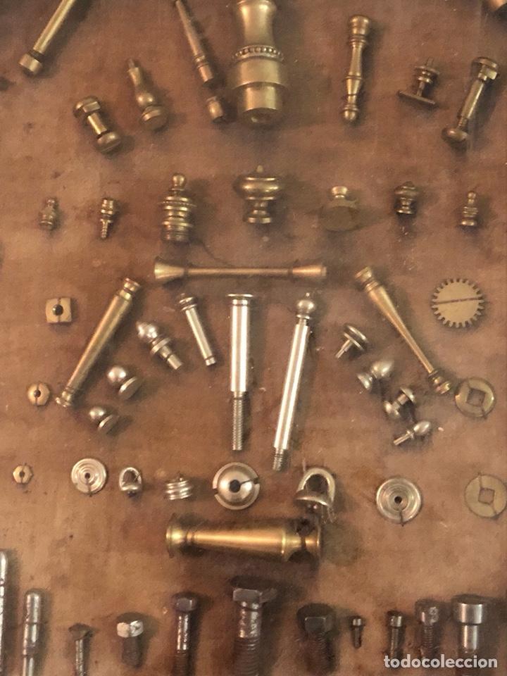 Antigüedades: Magnifico muestrario de tornilleria y herramientas siglo XIX - Foto 9 - 137569941