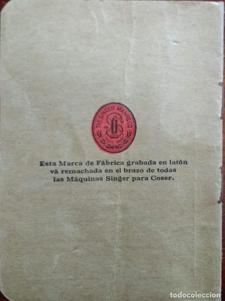 Antigüedades: ANTIGUO MANUAL DE INSTRUCCIONES SINGER, 1929 - Foto 3 - 203900798