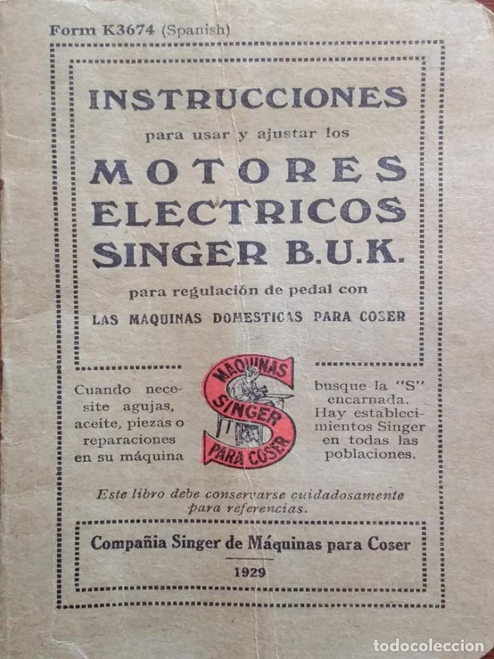 ANTIGUO MANUAL DE INSTRUCCIONES SINGER, 1929 (Antigüedades - Técnicas - Máquinas de Coser Antiguas - Singer)