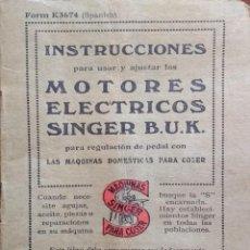 Antigüedades: ANTIGUO MANUAL DE INSTRUCCIONES SINGER, 1929. Lote 203900798