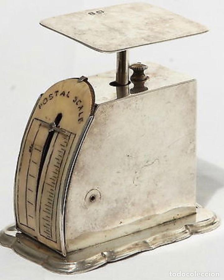 BÁSCULA ANTIGUA EN PLATA INGLESA, PARA CARTAS (Antigüedades - Técnicas - Medidas de Peso - Básculas Antiguas)