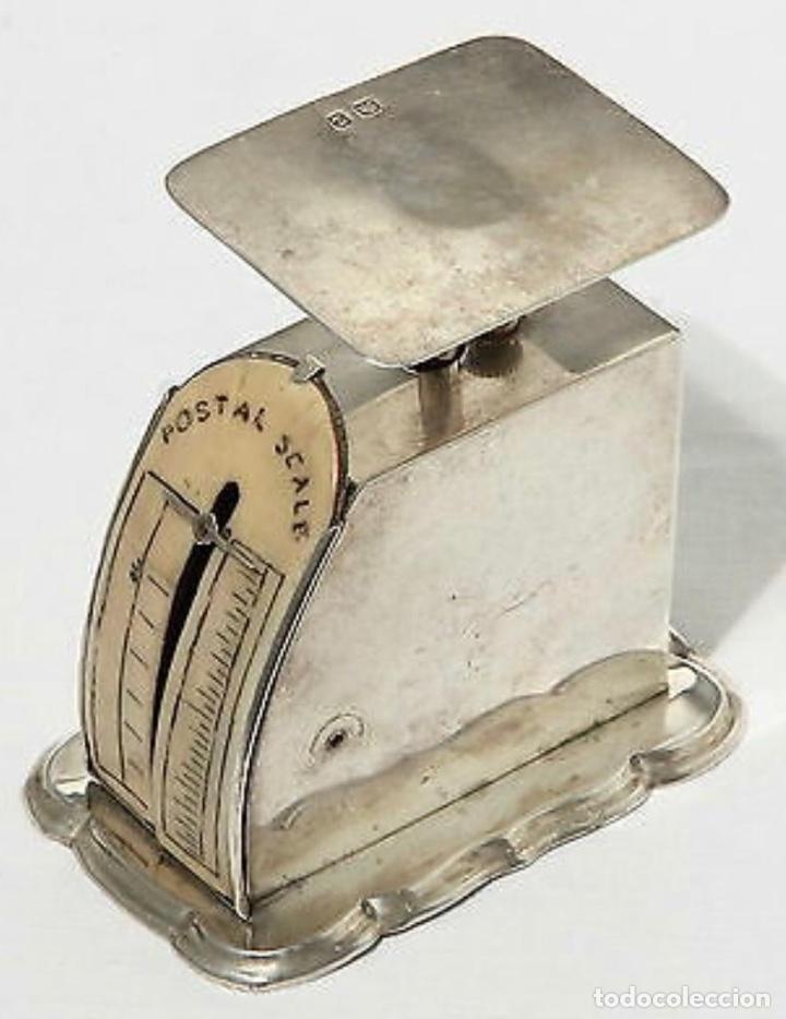 Antigüedades: Báscula antigua en plata inglesa, para cartas - Foto 2 - 203901521