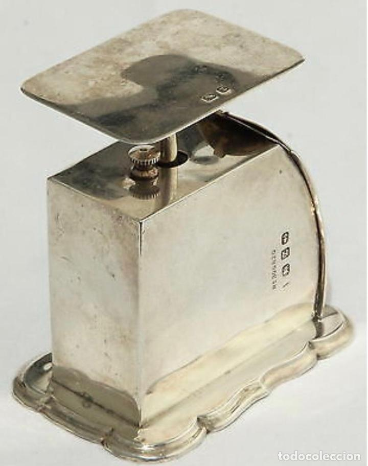 Antigüedades: Báscula antigua en plata inglesa, para cartas - Foto 4 - 203901521