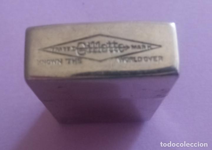 Antigüedades: ANTIGUA CAJA METÁLICA GILLETTE CON ESTUCHE METÁLICO PARA CUCHILLAS - U.S.A. - 8 x 5 CMS - Foto 12 - 204055378