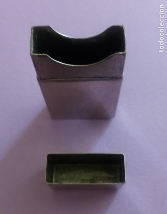 Antigüedades: ANTIGUA CAJA METÁLICA GILLETTE CON ESTUCHE METÁLICO PARA CUCHILLAS - U.S.A. - 8 x 5 CMS - Foto 14 - 204055378