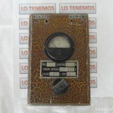 Antigüedades: ANTIGUO VOLTIMETRO MARCA REGA. Lote 204115120