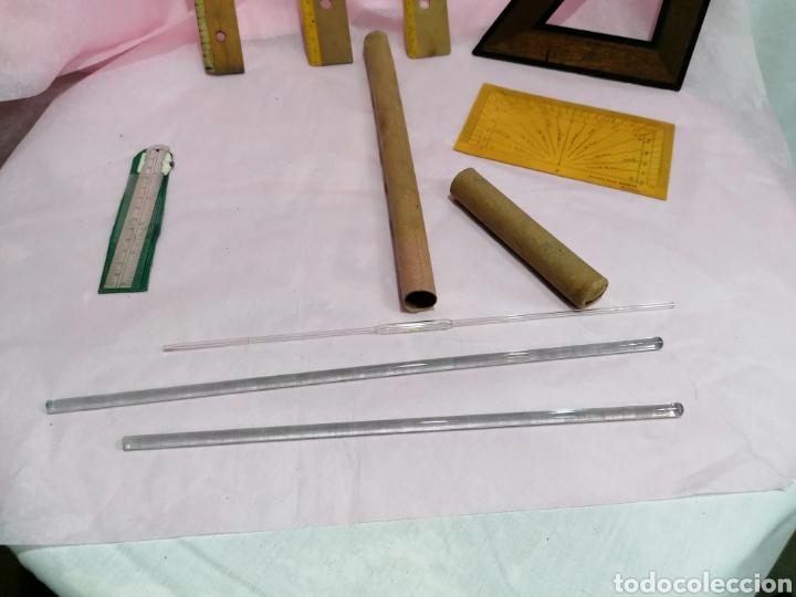 Antigüedades: Lote medición reglas y medidores laboratorio - Foto 4 - 204137455