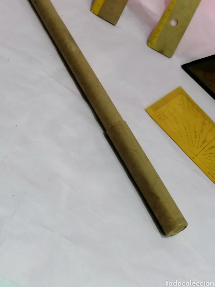 Antigüedades: Lote medición reglas y medidores laboratorio - Foto 5 - 204137455