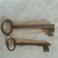 Antigüedades: LLAVES DE FORJA. Lote 204154371