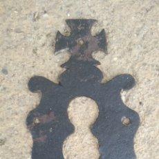 Antigüedades: FRONTAL DE CERRADURA SIGLO XIX.. Lote 204165545