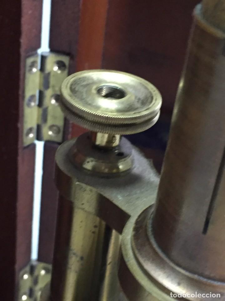 Antigüedades: ANTIGUO MICROSCOPIO MONOCULAR HARTNACK & PRAZMOWSKY c. 1870, EN SU CAJA - Foto 12 - 204169166