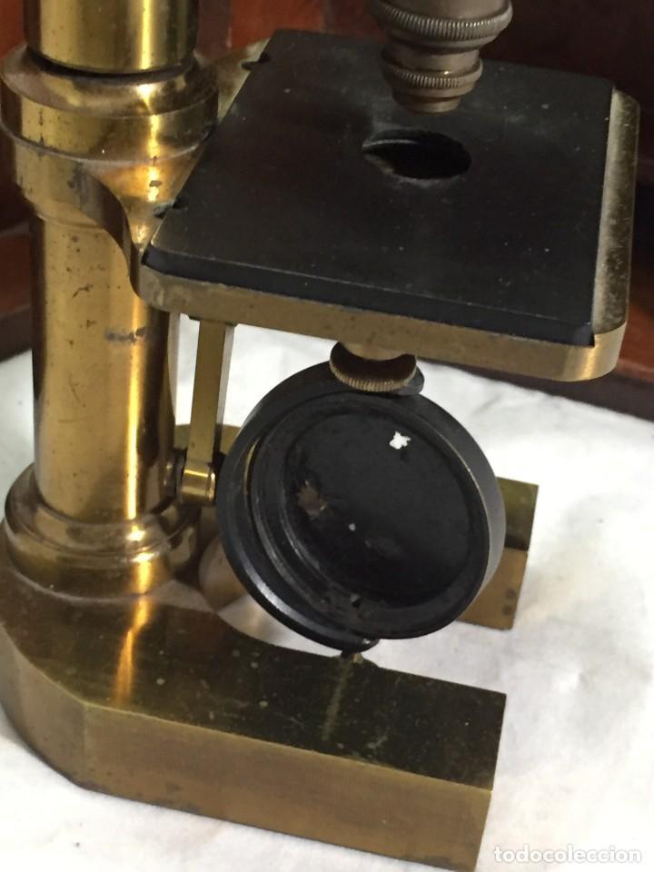 Antigüedades: ANTIGUO MICROSCOPIO MONOCULAR HARTNACK & PRAZMOWSKY c. 1870, EN SU CAJA - Foto 14 - 204169166