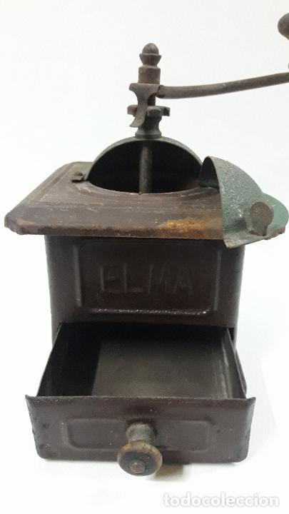Antigüedades: ANTIGUO MOLINILLO DE CAFE ELMA - METALICO . ORIGINAL DE EPOCA - Foto 3 - 204175668