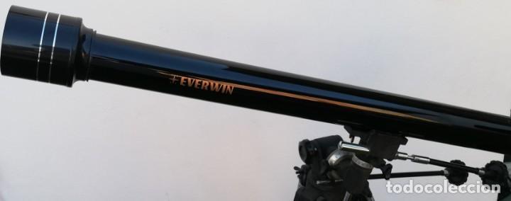 TELESCOPIO EVERWIN. TRÍPODE DESPLEGABLE (Antigüedades - Técnicas - Otros Instrumentos Ópticos Antiguos)