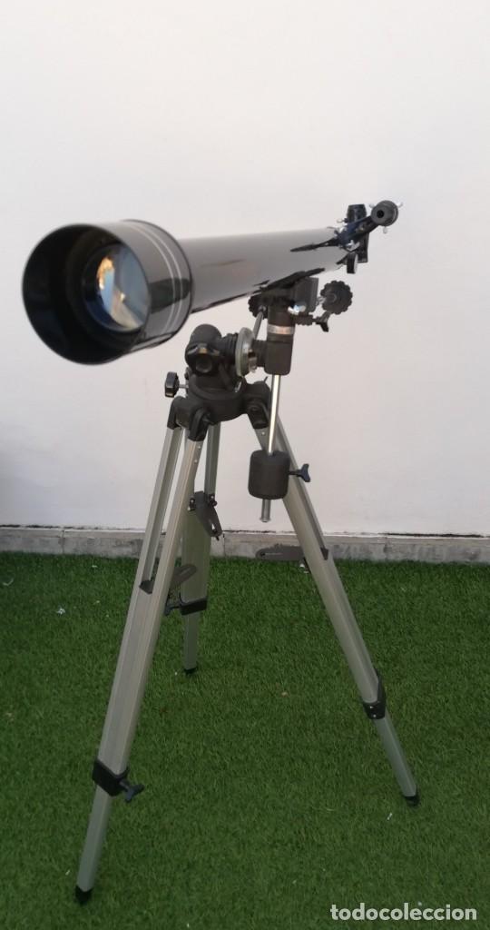 Antigüedades: Telescopio Everwin. Trípode desplegable - Foto 2 - 204183710