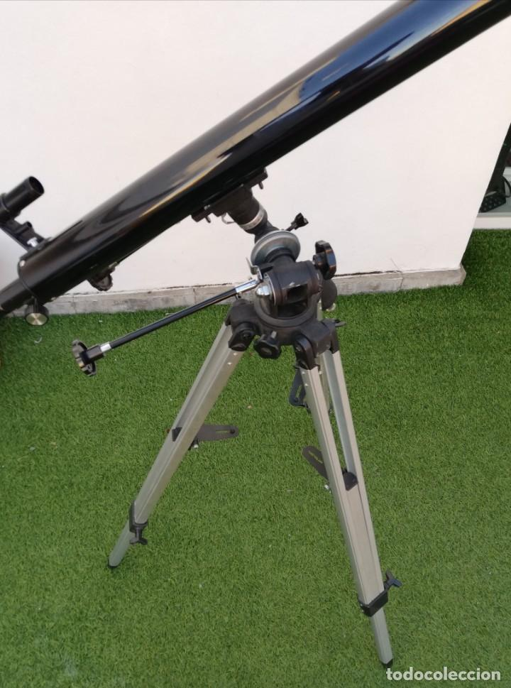 Antigüedades: Telescopio Everwin. Trípode desplegable - Foto 4 - 204183710