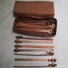 Antigüedades: 12 BRIDAS GRAPAS DE COBRE ANTIGUAS 24CM, PESAN 340GR + INFO Y FOTOS.. Lote 204221096
