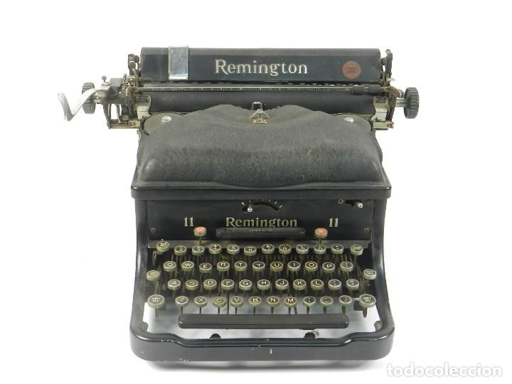 Antigüedades: MAQUINA DE ESCRIBIR REMINGTON Nº11 SPEED STROCKE 1936 TYPEWRITER SCHREIBMASCHINE - Foto 2 - 204266596