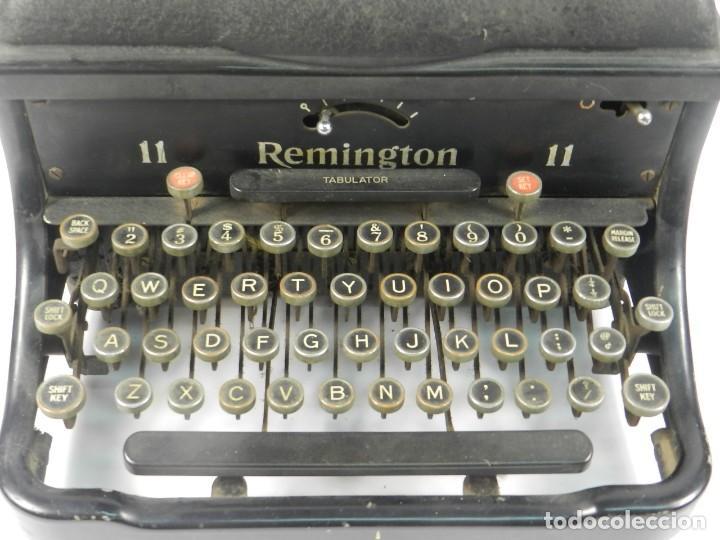 Antigüedades: MAQUINA DE ESCRIBIR REMINGTON Nº11 SPEED STROCKE 1936 TYPEWRITER SCHREIBMASCHINE - Foto 3 - 204266596