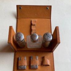 Antigüedades: ANTIGUO ESTUCHE DE AFEITAR EN PIEL . BETER . CON CAJA Nº 129 . INCOMPLETO .. Lote 204273342