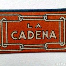 Antigüedades: HOJA DE AFEITAR ANTIGUA,LA CADENA (-0,20-),SIN USAR. Lote 204277438