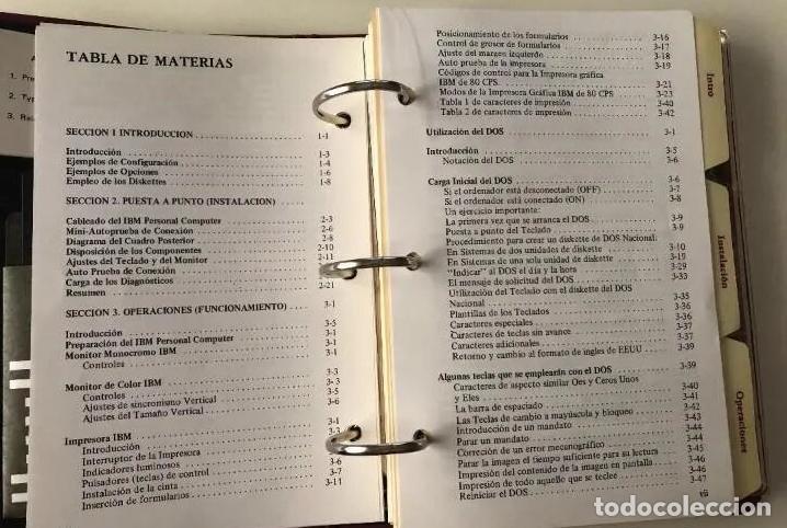 Antigüedades: LOTE GUÍA DE OPERACIÓN + BASIC IBM - PC ( INCLUYE EL DISCO DE DIAGNÓSTICOS) - Foto 5 - 204346238