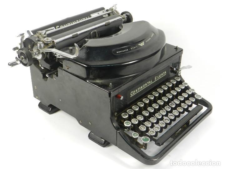 MAQUINA DE ESCRIBIR CONTINENTAL SILENTA AÑO 1934 TYPEWRITER SCHREIBMASCHINE (Antigüedades - Técnicas - Máquinas de Escribir Antiguas - Continental)