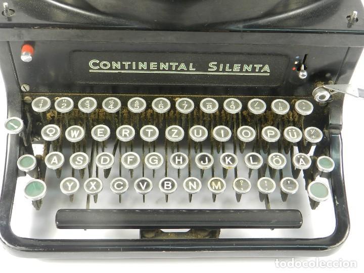 Antigüedades: MAQUINA DE ESCRIBIR CONTINENTAL SILENTA AÑO 1934 TYPEWRITER SCHREIBMASCHINE - Foto 4 - 204349293