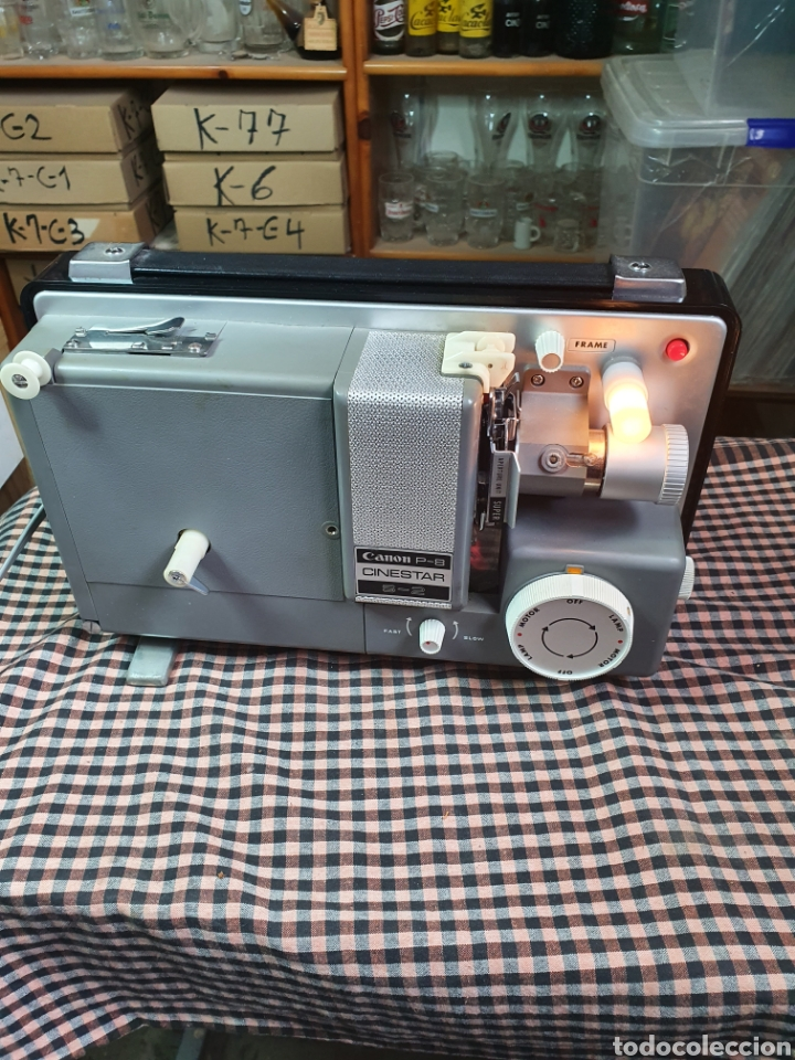 Antigüedades: Proyector de cine marca Canon modelo p- 8 cinestar s - 2. - Foto 2 - 204375062
