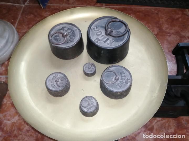 Antigüedades: BALANZA FORCE 30 KG INCLUYE PESAS - Foto 3 - 204403446