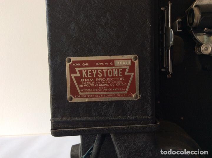 Antigüedades: PROYECTOR KEYSTONE MODELO G-8 115 VOLTS 8MM - Foto 2 - 204404950