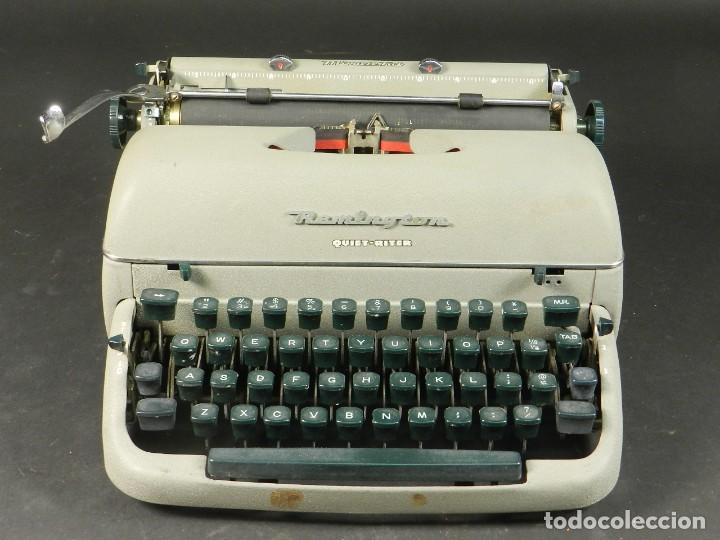 Antigüedades: MAQUINA DE ESCRIBIR REMINGTON QUIET RITER AÑO 1950 TYPEWRITER SCHREIBMASCHINE - Foto 2 - 204405693