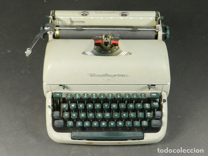 Antigüedades: MAQUINA DE ESCRIBIR REMINGTON QUIET RITER AÑO 1950 TYPEWRITER SCHREIBMASCHINE - Foto 3 - 204405693