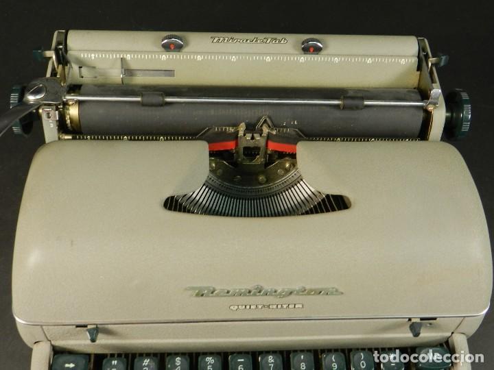 Antigüedades: MAQUINA DE ESCRIBIR REMINGTON QUIET RITER AÑO 1950 TYPEWRITER SCHREIBMASCHINE - Foto 5 - 204405693