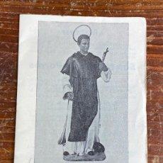 Antigüedades: LIBRO SAN MARTIN DE PORRES PATRON PELUQUEROS MURCIANOS IGLESIA SANTA ANA MURCIA - BARBERO BARBERIA. Lote 204412927